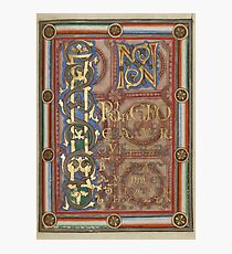 Decorated Incipit Page - Opening of Saint John's Gospel (1120 - 1140 AD) Photographic Print