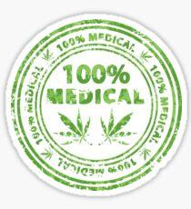 100% Medical Marijuana Stamp Sticker
