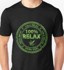 100% Relax Marijuana Stamp T-Shirt