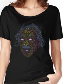 Acid Scientist tongue out psychedelic art poster Women's Relaxed Fit T-Shirt