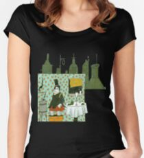 Wine and Cookies Women's Fitted Scoop T-Shirt