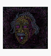 Acid Scientist tongue out psychedelic art poster Photographic Print