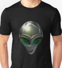 Metal Alien Head 02 Unisex T-Shirt