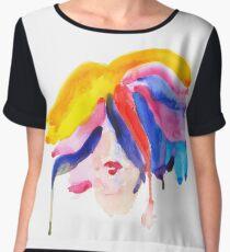 watercolor girl Chiffon Top