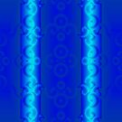 Electric Blue Scrollwork by Kinnally