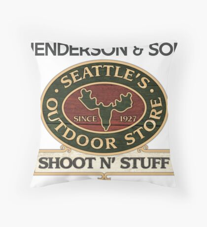 Seattle's Outdoor Store Throw Pillow