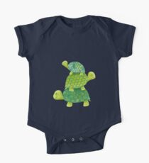 Cute Turtle Stack in Teal, Lime Green and Turquoise Kids Clothes