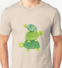 Cute Turtle Stack in Teal, Lime Green and Turquoise Unisex T-Shirt