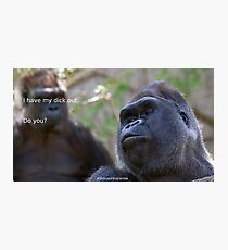 Dicks out 4 Harambe Photographic Print