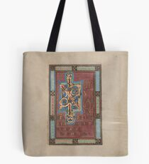 Decorated Incipit Page - Beginning of Mark's Gospel (1120 - 1140 AD) Tote Bag