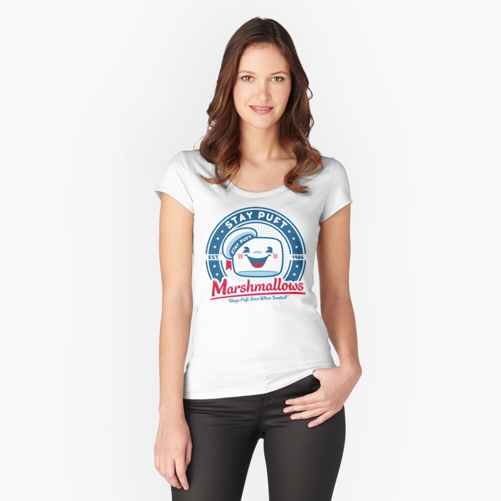 Marshmallows Women's Fitted Scoop T-Shirt Front