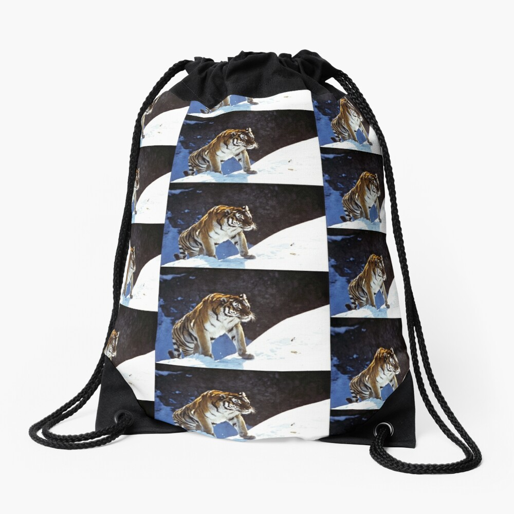 Travelling Tiger Drawstring Bag