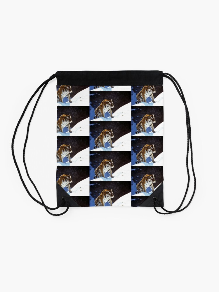 Alternate view of Travelling Tiger Drawstring Bag
