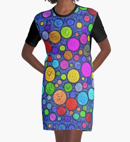 #DeepDream Color Circles Visual Areas 5x5K v1448629304 Graphic T-Shirt Dress