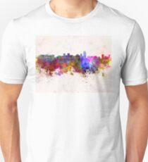 Albuquerque skyline in watercolor background T-Shirt