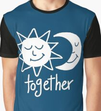 Together cute sun and moon Graphic T-Shirt