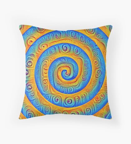 #DeepDreamed Swirl Throw Pillow