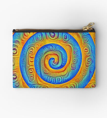 #DeepDreamed Swirl Studio Pouch
