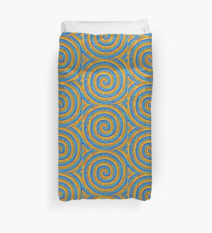 #DeepDreamed Swirl Duvet Cover