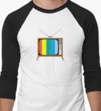 Retro TV Men's Baseball ¾ T-Shirt