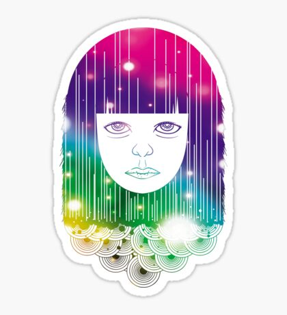 Space Girl Sticker
