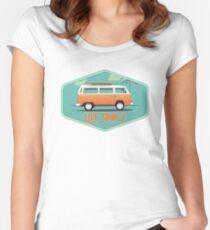 Live Simply - Beach Van Sticker Women's Fitted Scoop T-Shirt