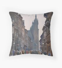 Afternoon at Krakow Throw Pillow