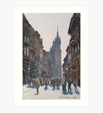 Afternoon at Krakow Art Print