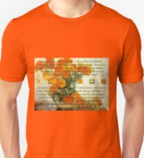 October's Child Birthday Greeting with Marigolds Unisex T-Shirt