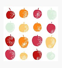Apple silhouette set Photographic Print