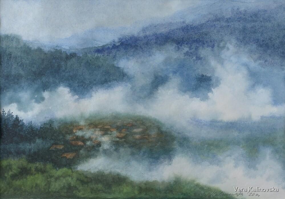 Foggy Morning in Carpathians by Vira Kalinovska