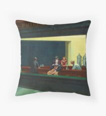 Pennywise in Hopper's Nighthawks Throw Pillow
