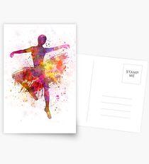 woman ballerina ballet dancer dancing Postcards