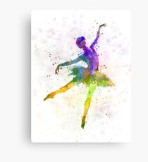 woman ballerina ballet dancer dancing  Canvas Print