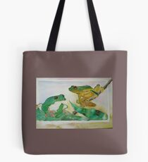 Frogs hanging out Tote Bag
