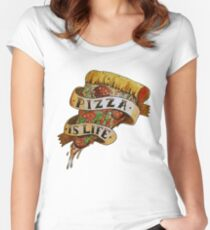 Pizza is Life Women's Fitted Scoop T-Shirt