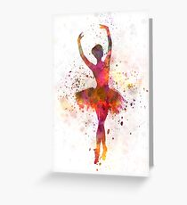 Woman ballerina ballet dancer dancing  Greeting Card