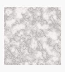 White solid marble Photographic Print