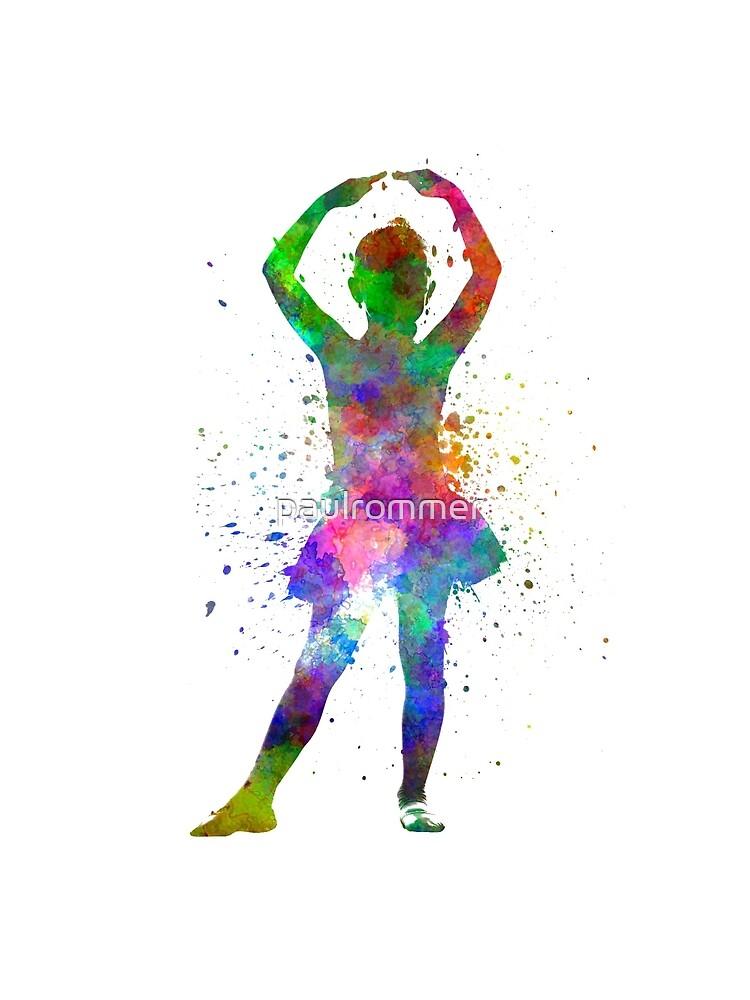 Ballerina-Balletttänzertanzen des kleinen Mädchens von paulrommer