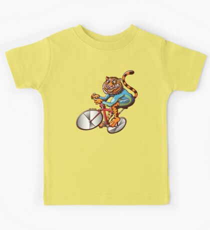 Cycling Tiger Riding a Racing Bicycle Kids Clothes
