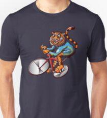 Cycling Tiger Riding a Racing Bicycle Unisex T-Shirt