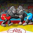 Wrestling Gorillas by Zoo-co