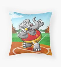 Shot Put Elephant Throw Pillow