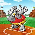 Shot Put Elephant by Zoo-co