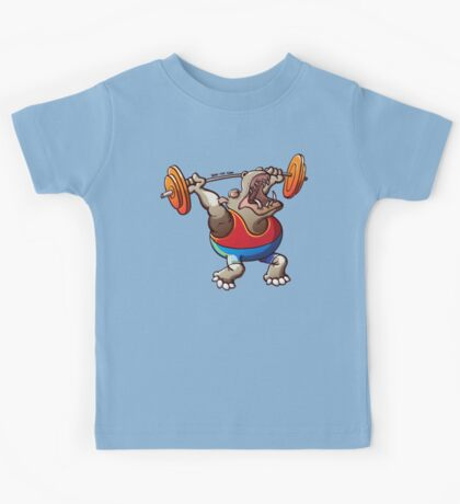 Weightlifting Hippopotamus Kids Clothes