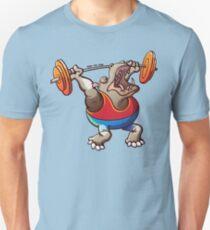 Weightlifting Hippopotamus Unisex T-Shirt