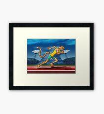 Runner Cheetah Framed Print