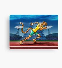 Runner Cheetah Canvas Print