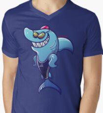 Swimmer Shark V-Neck T-Shirt