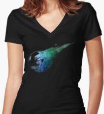Final Fantasy VII logo universe Women's Fitted V-Neck T-Shirt